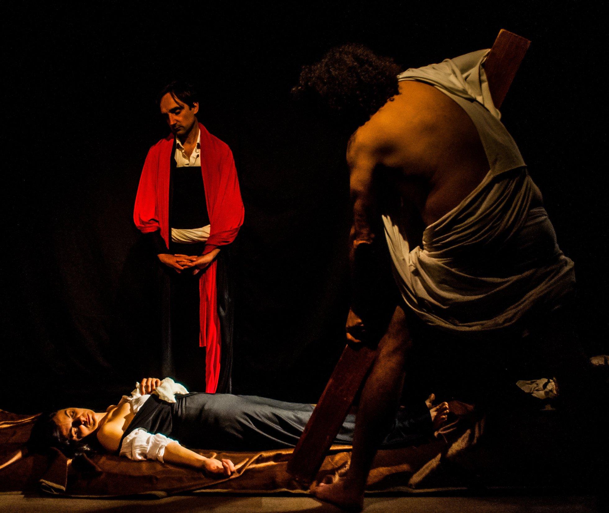 tableau vivant Seppellimento di Santa Lucia Caravaggio