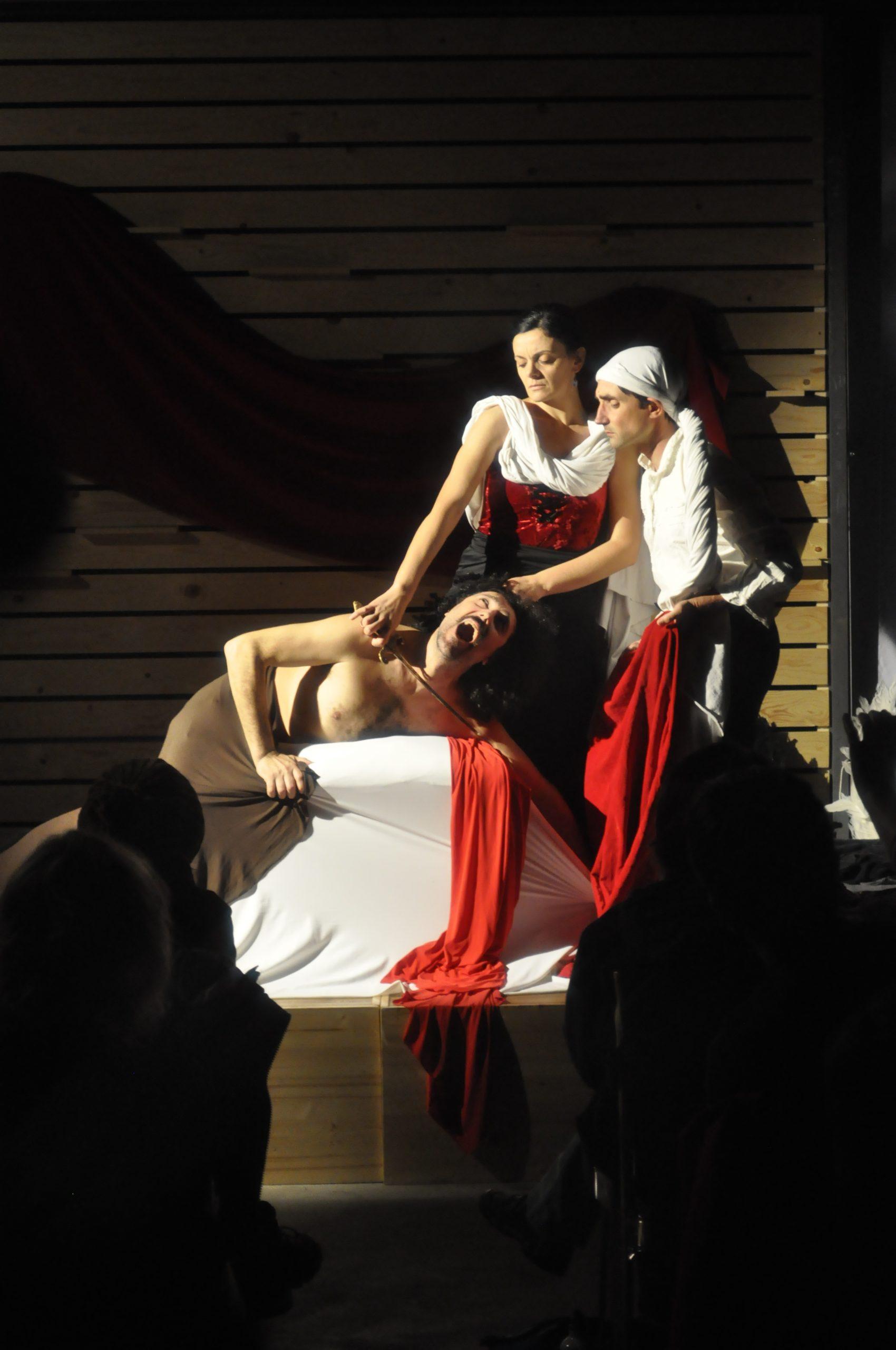 Tableau vivant Giuditta e Oloferne Caravaggio