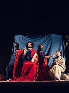 Tableau vivant Trinità Eucaristica, affresco Cimitile