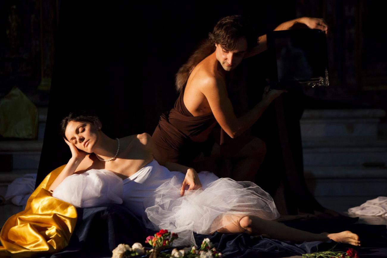 tableau vivant Venere, Amore e un satiro Luca Giordano - eventi