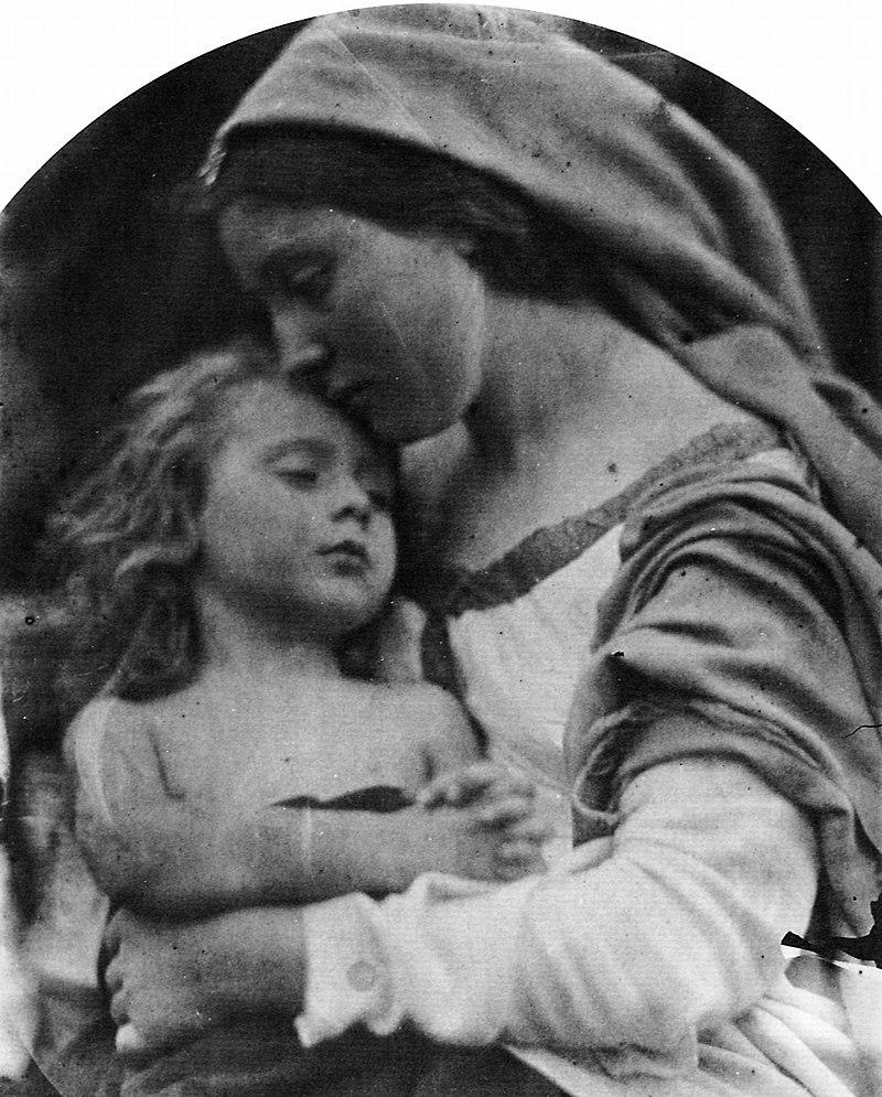 Studio Madonna con bambino. Di Julia Margaret Cameron